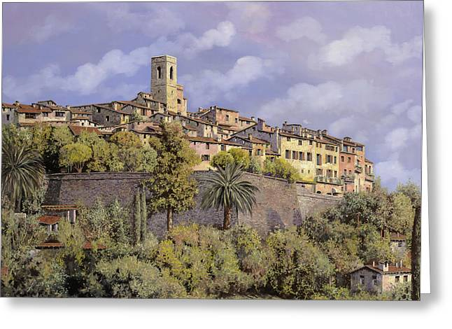 Art Exhibition Greeting Cards - St.Paul de Vence Greeting Card by Guido Borelli