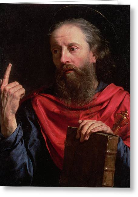 Apostles Greeting Cards - St.paul Greeting Card by Philippe de Champaigne