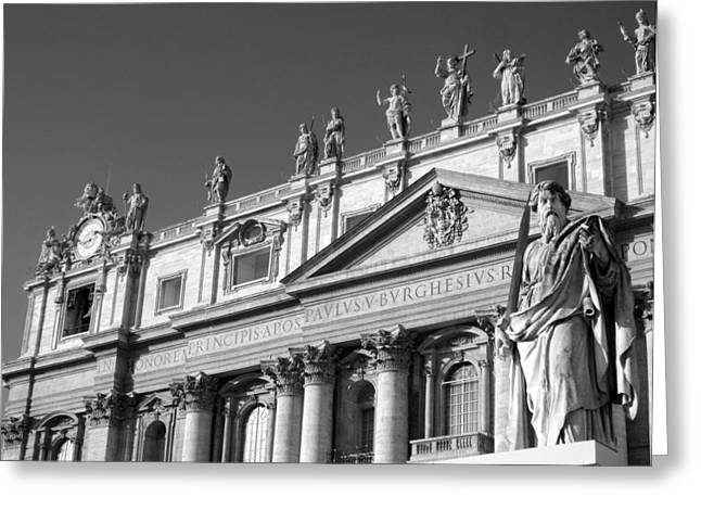 The Vatican Greeting Cards - St.Peters Basilica Greeting Card by Bryan Hochman