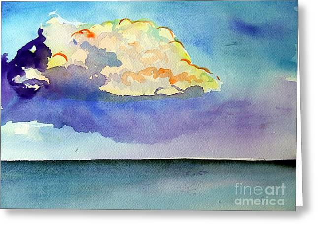St Petersburg Florida Paintings Greeting Cards - St.Petersburg Clouds Greeting Card by Vanda Sucheston Hughes