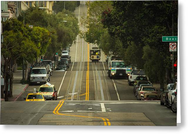 Oakland Neighborhood Greeting Cards - Straight and Narrow Greeting Card by Ken Kobe