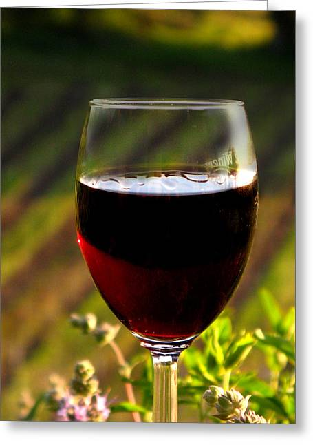California Wine Tasting Greeting Cards - Straight from the Vines Greeting Card by Pauline Darrow