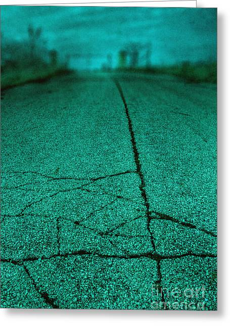 Old Roadway Greeting Cards - Straight Greeting Card by Margie Hurwich