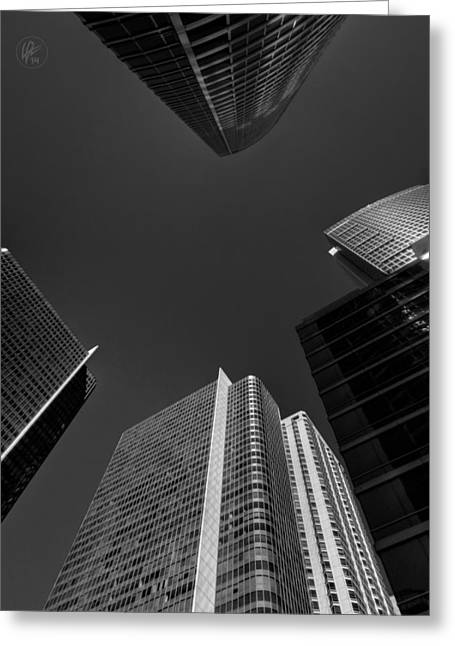 Buildings Greeting Cards - Straight Up Chicago 005 Greeting Card by Lance Vaughn