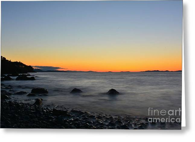Exposure Greeting Cards - Strait of Georgia LE Greeting Card by Elmar Langle