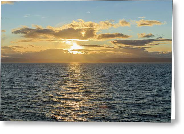 Strait Of Magellan At Sunset, Southern Greeting Card by Panoramic Images