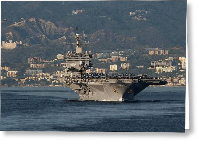 Military Might Greeting Cards - Strait of Messina Greeting Card by Mountain Dreams