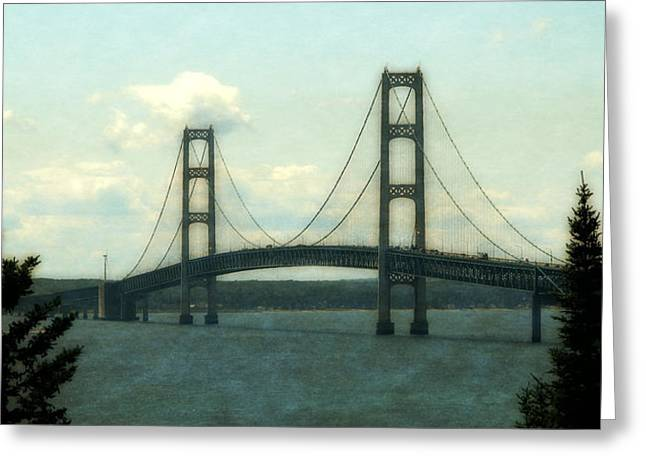Mackinaw City Greeting Cards - Straits of Mackinac Greeting Card by Michelle Calkins
