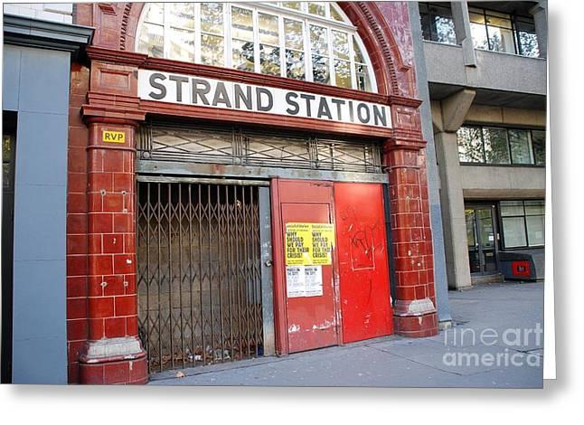 Aldwych Greeting Cards - Strand station London Greeting Card by David Fowler