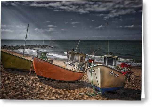 Strands Greeting Cards - Stranded Boats Greeting Card by Erik Brede