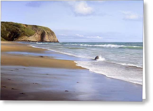 Danae Paintings Greeting Cards - Strands Beach Greeting Card by Cliff Wassmann