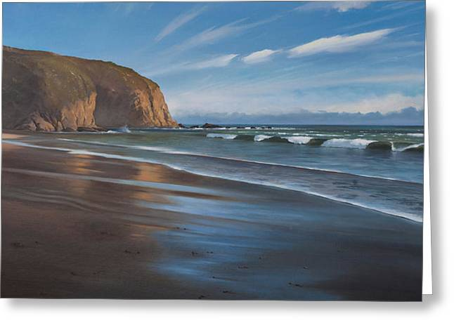 Danae Greeting Cards - Strands Beach Dana Point Oil Painting Greeting Card by Cliff Wassmann