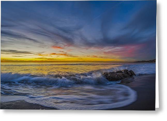 Oc Greeting Cards - Strands Beach Greeting Card by Sean Foster