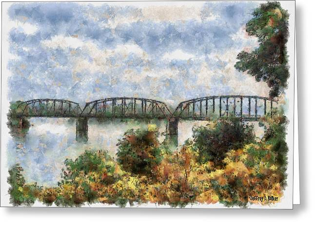 Strang Bridge Greeting Card by Jeff Kolker