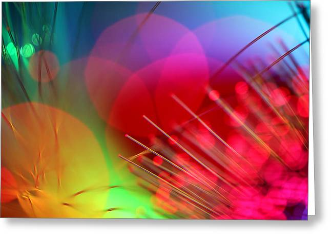 Abstract Art Greeting Cards - Strange Days Greeting Card by Dazzle Zazz