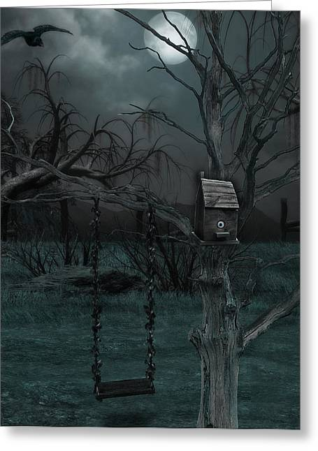 Creepy Digital Art Greeting Cards - Strange Eyedea Greeting Card by Kristie  Bonnewell