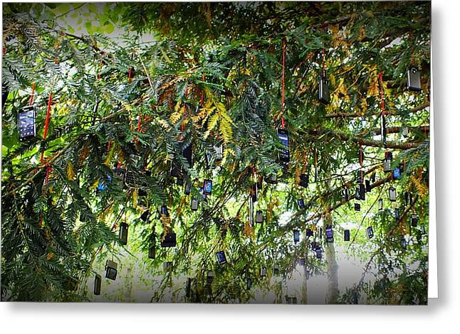 Cellphone Greeting Cards - Strange fruit Greeting Card by Guy Pettingell