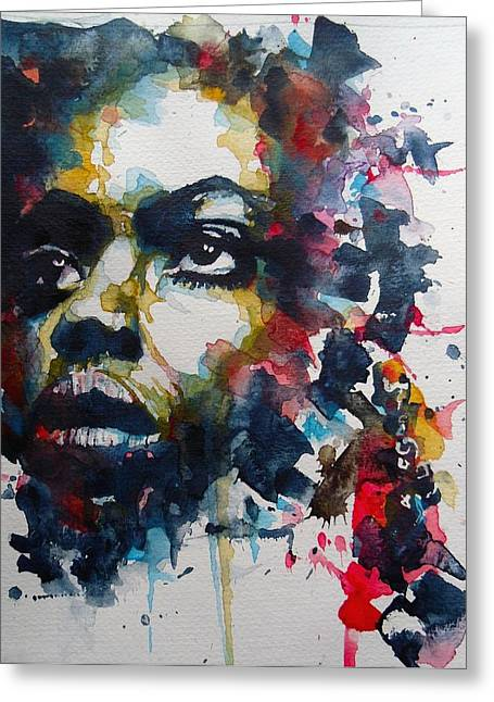 Civil Rights Paintings Greeting Cards - Strange Fruit Greeting Card by Paul Lovering