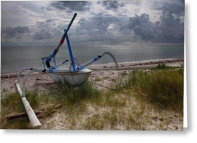 Synchronous Greeting Cards - Strange on the beach Greeting Card by Kent Mathiesen