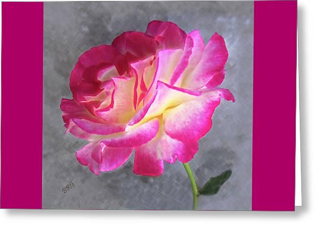 Grey And Pink Greeting Cards - Strange Rose Greeting Card by Ben and Raisa Gertsberg