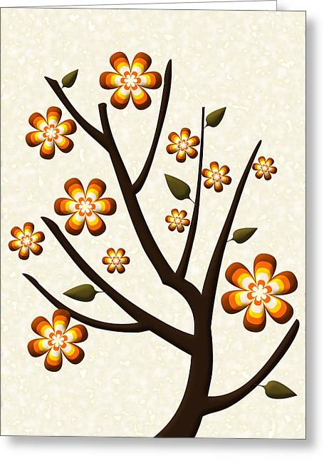 Olives Mixed Media Greeting Cards - Strange Season Greeting Card by Anastasiya Malakhova