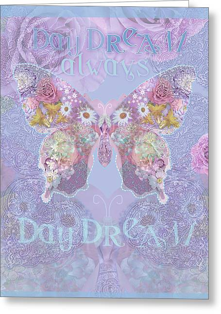 Strange Greeting Cards - Strange Swirl Butterfly Greeting Card by Alixandra Mullins