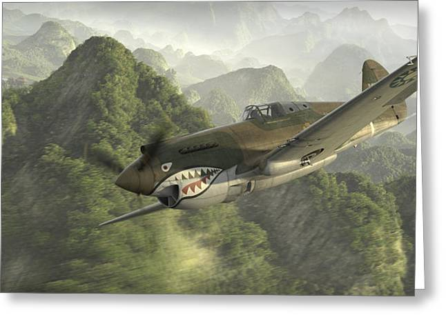 Flying Tigers Greeting Cards - Strangely Elusive Greeting Card by Robert Perry