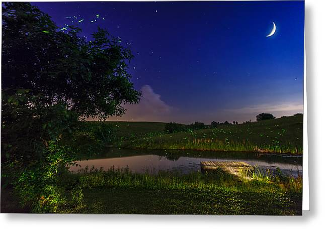 Bluegrass Greeting Cards - Strangers in the night Greeting Card by Alexey Stiop