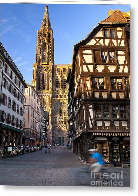 Route Des Vins Greeting Cards - Strasbourg Cathedral Greeting Card by Brian Jannsen