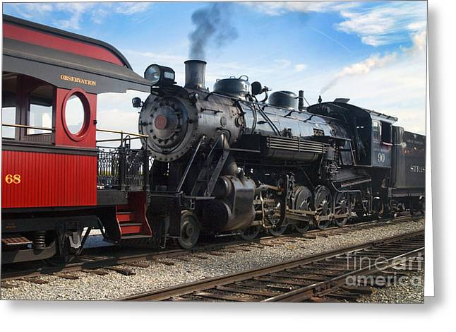 Strasburg Greeting Cards - Strasburg Railroad - 1051 Greeting Card by Paul W Faust -  Impressions of Light