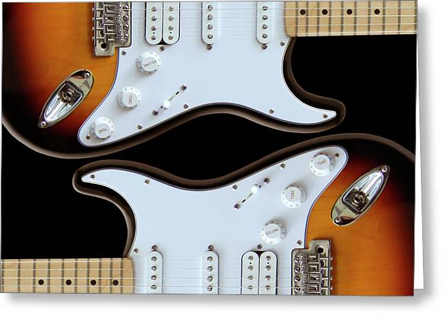 Imaginative Art Greeting Cards - Electric Guitar 5 Greeting Card by Mike McGlothlen