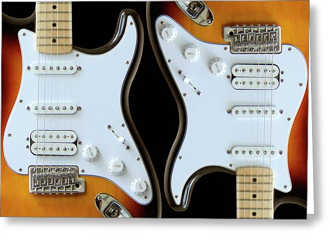 Magnetic Greeting Cards - Electric Guitar 6 Greeting Card by Mike McGlothlen