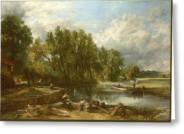 Stratford Mill Greeting Card by John Constable