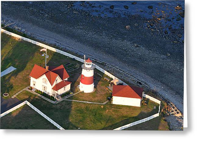 Stratford Greeting Cards - Stratford Point Lighthouse 1 Greeting Card by Dennis Clark