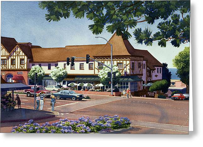 Rt. Greeting Cards - Stratford Square Del Mar Greeting Card by Mary Helmreich