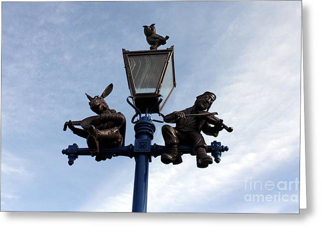 Fiddler On The Roof Greeting Cards - Stratfords Jewish Lamp Post Greeting Card by Terri  Waters