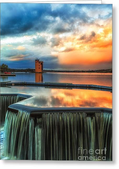 Strathclyde Loch Wier  Greeting Card by John Farnan