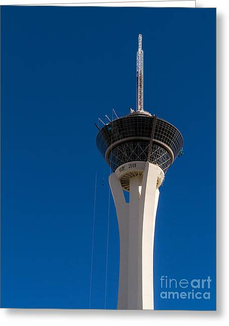 Stratosphere Greeting Cards - Stratosphere Las Vegas Greeting Card by Edward Fielding
