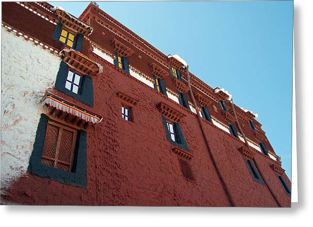 Absorb Digital Art Greeting Cards - Straw Embedded in Palace Walls to Absorb Moisture-Tibet Greeting Card by Ruth Hager