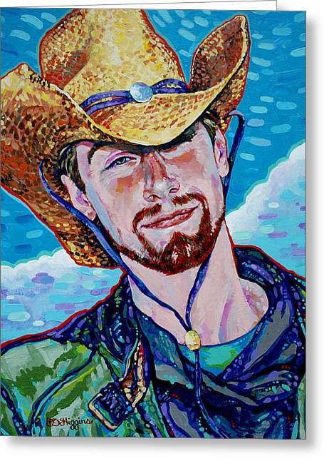 Cowboy Hands Greeting Cards - Straw Hat Greeting Card by Derrick Higgins