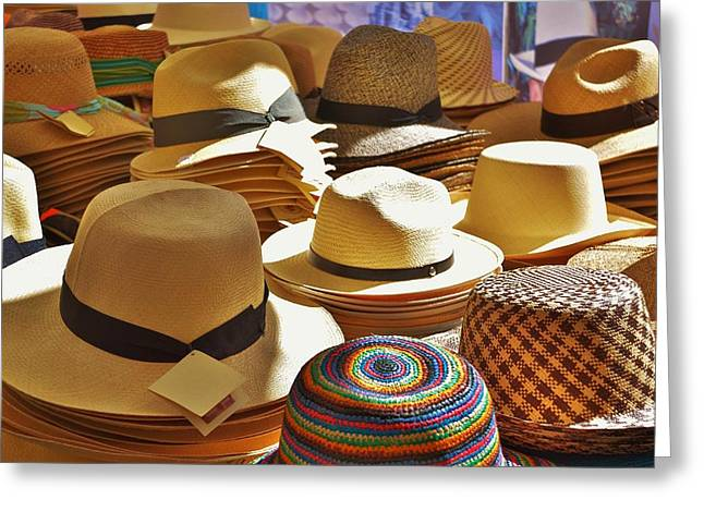 Straw Hats Greeting Card by Dany Lison