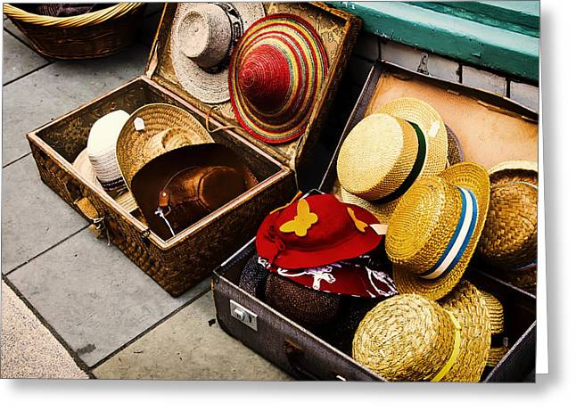 Apparel Greeting Cards - Straw Hats for Sale Greeting Card by Mountain Dreams