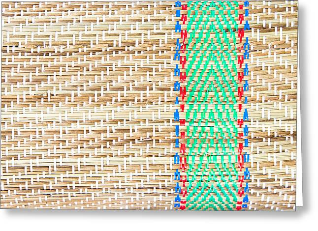 Fibre Greeting Cards - Straw mat Greeting Card by Tom Gowanlock