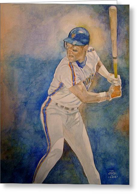 Batter Paintings Greeting Cards - Straw Greeting Card by Nigel Wynter