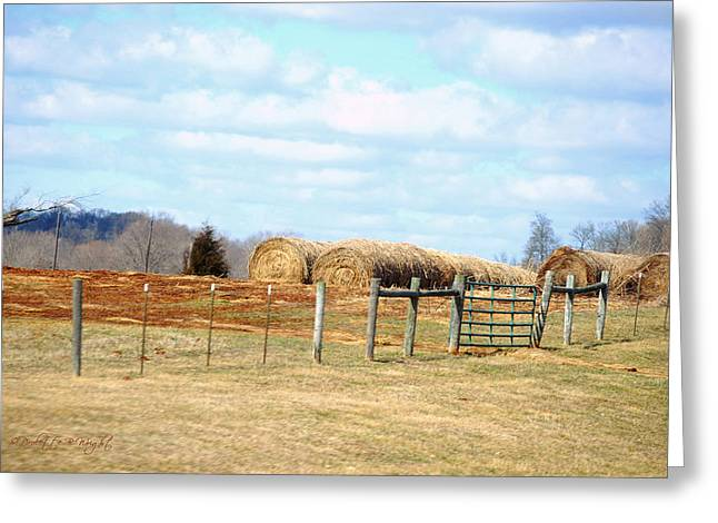 Top Seller Greeting Cards - Straw Rolls Greeting Card by Paulette B Wright