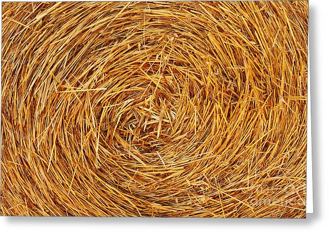 Bale Greeting Cards - Straw Texture Greeting Card by Carlos Caetano