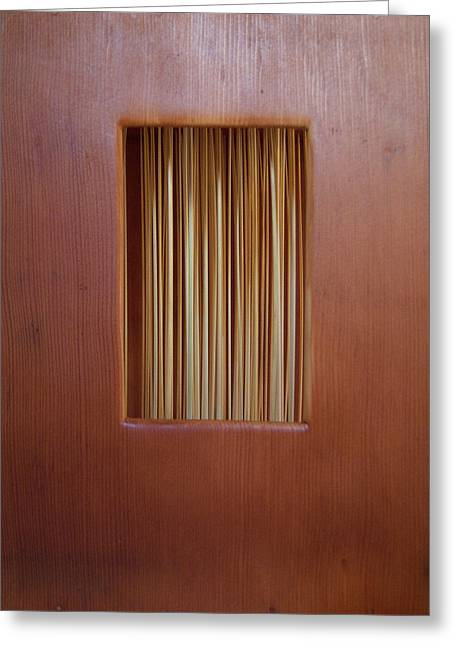 Grass Sculptures Greeting Cards - Straw Window Greeting Card by Daniel P Cronin