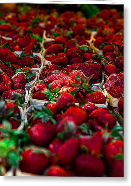 Mccoy Greeting Cards - Strawberries Greeting Card by A Different Brian Photography