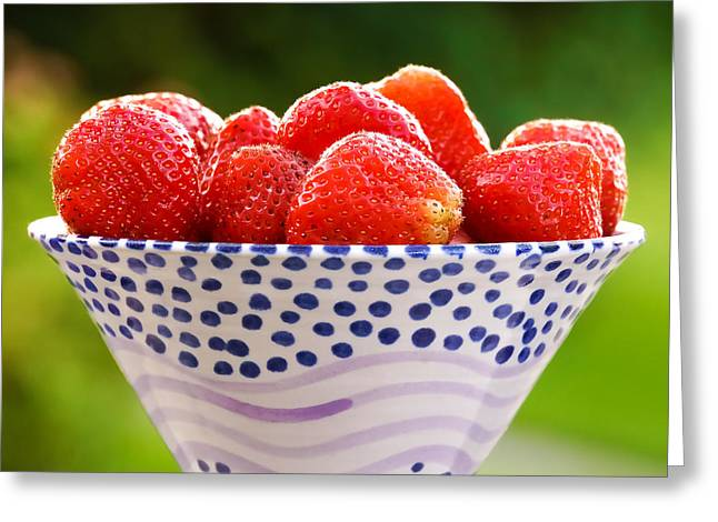 Bowl Of Food Greeting Cards - Strawberries forever Greeting Card by Lutz Baar