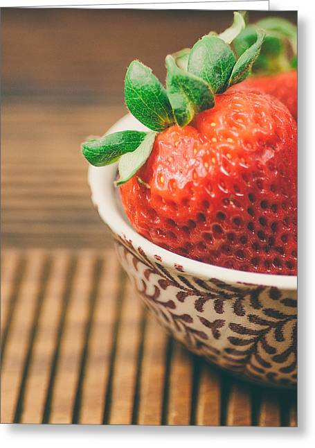 Still Life Photographs Greeting Cards - Strawberries Greeting Card by Nastasia Cook